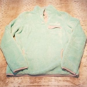 Free Country Jackets & Coats - Free Country Light Sea Foam Green Zipped Fleece